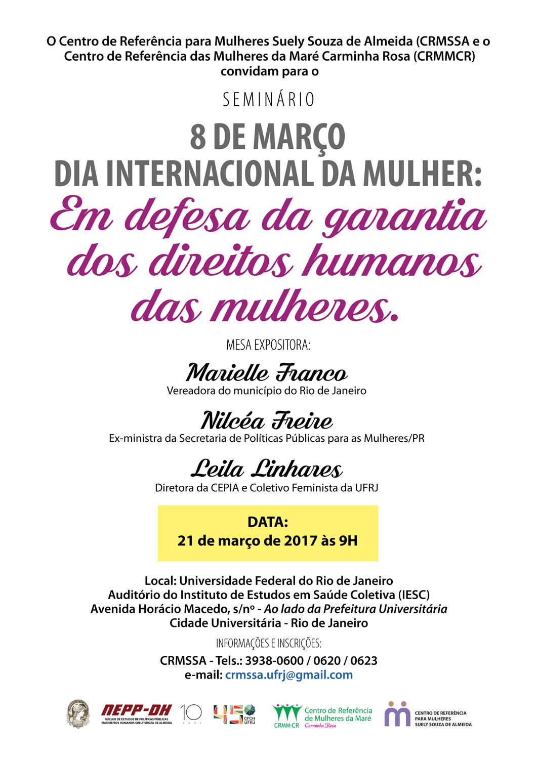 Seminário: Em defesa da garantia dos direitos humanos das mulheres