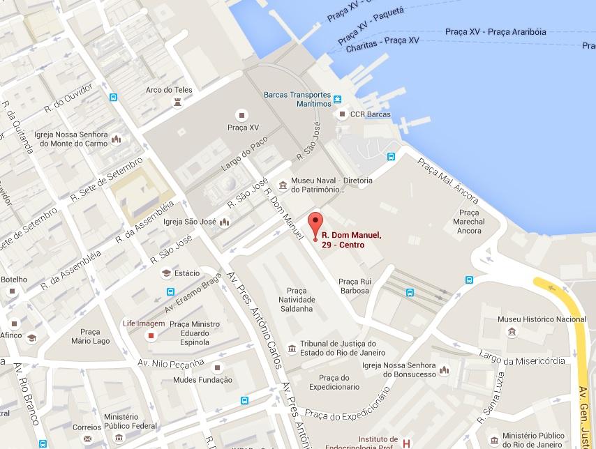 Localização do CCPJ-Rio