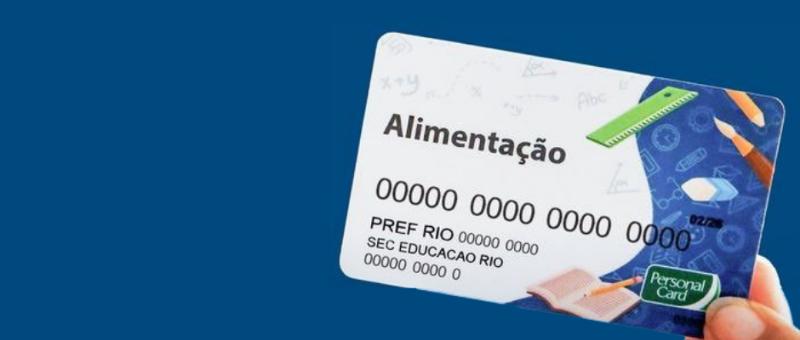 Cartão alimentação da Prefeitura do Rio