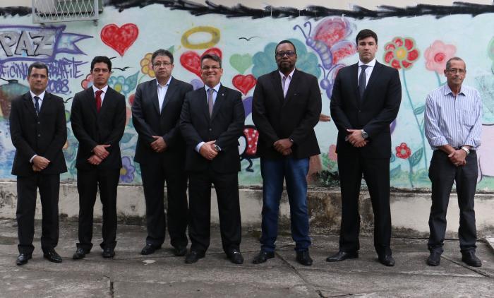 A partir da esquerda, Adilson Câmara, Afonso Henrique, Alexandre Azevedo, Claudio de Mello Tavares, Leonardo de Souza, Leandro Loyola e Erir Ribeiro
