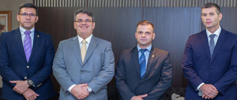 André Azevedo, Claudio de Mello Tavares, Silvinei Vasques e Marcello Rubioli