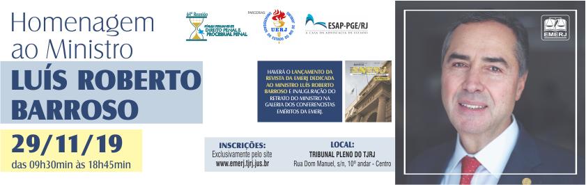 Homenagem ao Ministro do STF Luís Roberto Barroso