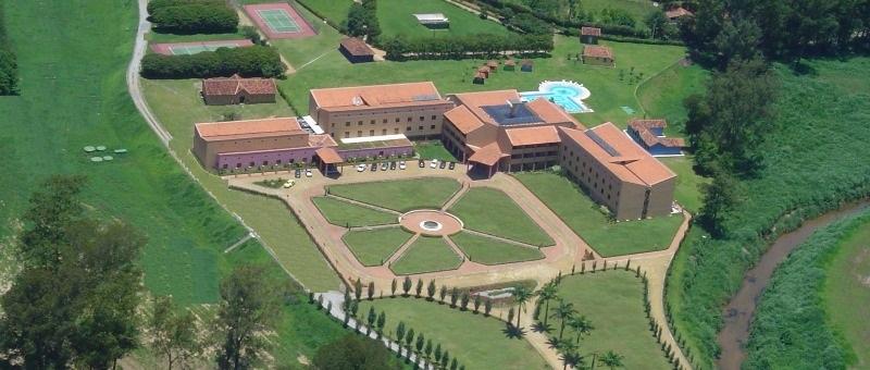 Vista aérea do Hotel Vila Real, em Itaipava, que vai sediar o encontro estadual de mediadores