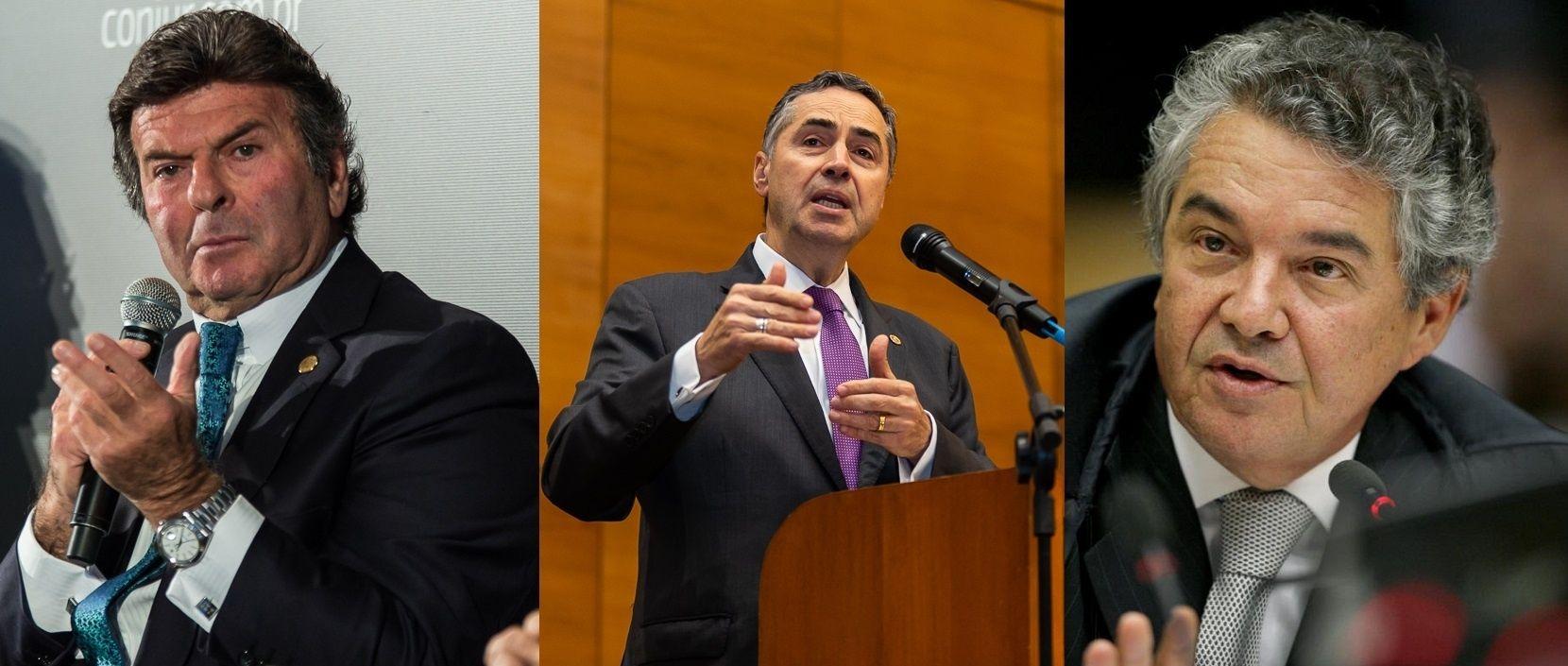 Ministros Luiz Fux, Luís Roberto Barroso e Marco Aurélio Mello serão palestrantes no evento