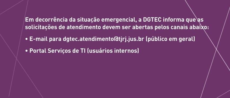 Comunicado DGTEC