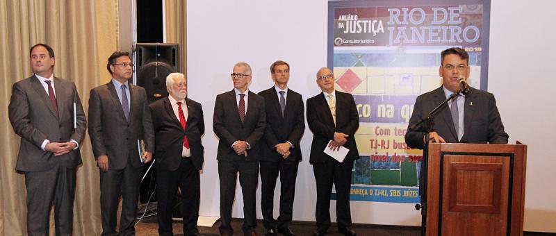O presidente do TJRJ, desembargador Claudio de Mello Tavares comemorou o reconhecimento do Tribunal como o mais produtivo do país