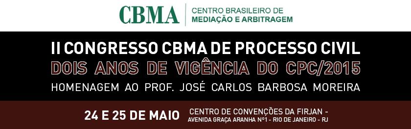 O evento será realizado pelo Centro Brasileiro de Mediação e Arbitragem