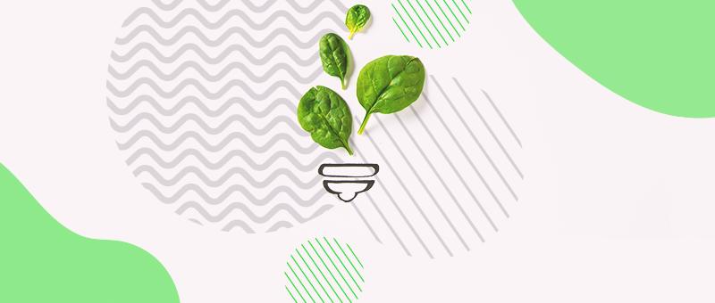 Imagem de vaso de planta com três folhas verdes