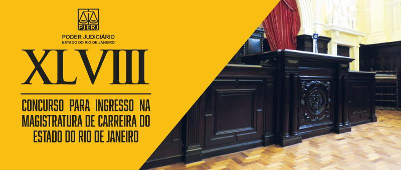 Edital do XLVIII Concurso para Ingresso na Magistratura de Carreira do TJRJ  é publicado no Diário da Justiça de hoje (4/9).